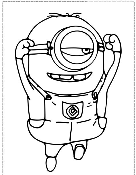 Coloring Pages Minion Stuart | minion coloring pages az coloring pages