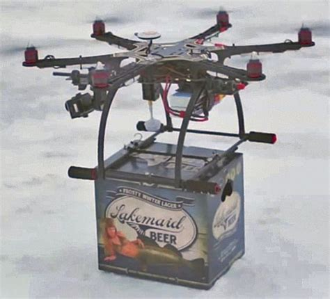 Drone Lung flying drone delivers frosty but faa grounds plans