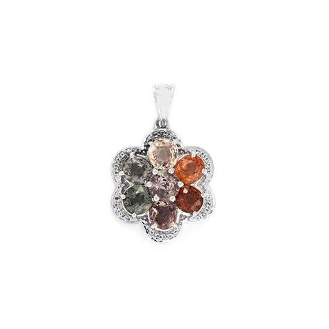 505 Cts Ruby burmese multi colour spinel pendant with white topaz in