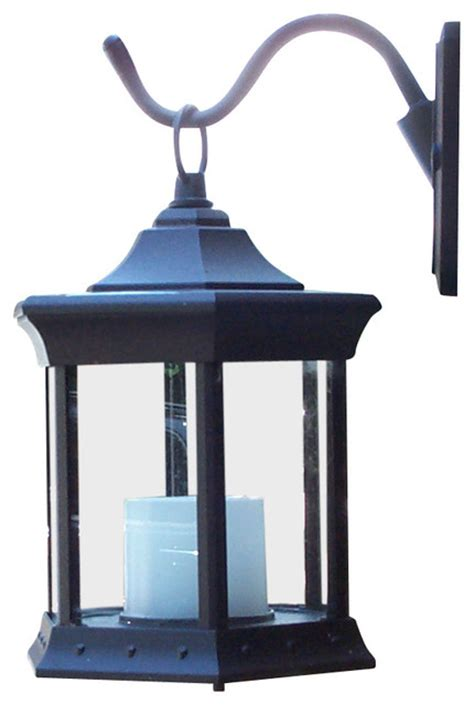 Outdoor Solar Wall Sconce Solar Lantern Sconce Clear Glass Traditional Outdoor Wall Lights And Sconces By Starlite