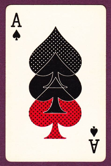P Drawing An Ace From A Fair Deck Of Cards by 1 Single Card Ace Of Spades Decker