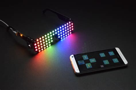 Led Projie project overview bluefruit controlled macetech rgb led