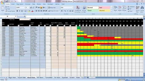 Excel Graphical Production Planning And Control Planner Manufacturing Bom Scheduling Demo Part Production Schedule Template Excel