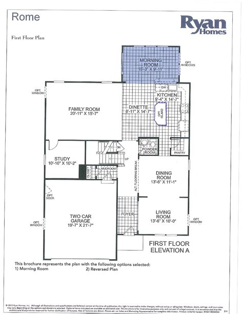 model floor plans ryan homes floor plans ranch home rome model plan