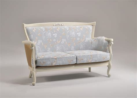 classic style sofa sofa with finishings in silver leaf classic style idfdesign