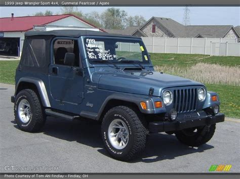 1999 jeep wrangler sport 4x4 in gunmetal pearlcoat photo no 8137042 gtcarlot