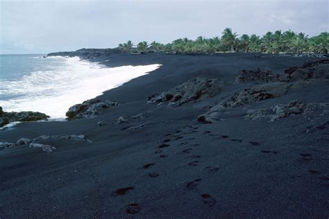 beach with black sand g115 introduction to oceanography