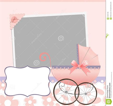 Cute Template For Baby S Card Stock Vector Image 21001196 Baby S Card Template