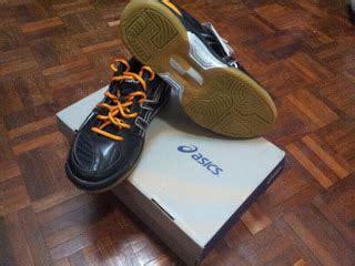 Harga Kasut Asics Gel Badminton barang branded murah kasut asics indoor orange black