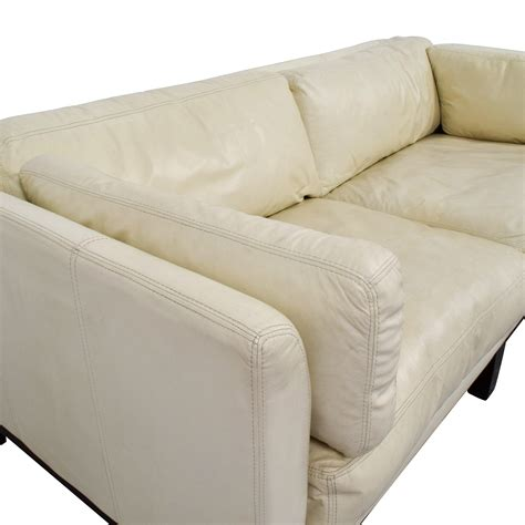 72 Off Decoro Decoro Off White Leather Sofa Sofas White Sofa Chair