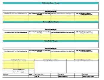 Florida Standards Marzano Interactive Lesson Plan Template Fifth Grade Mafs Fifth Grade Lesson Plan Template