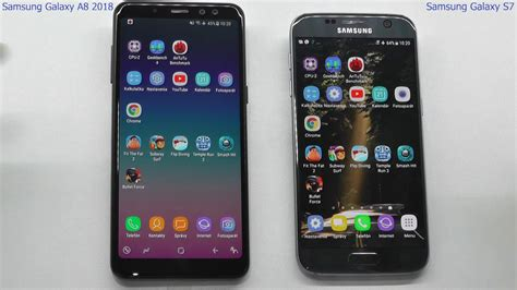 Samsung A8 Vs S7 Edge samsung galaxy a8 2018 vs samsung galaxy s7 speed test multitasking which is faster