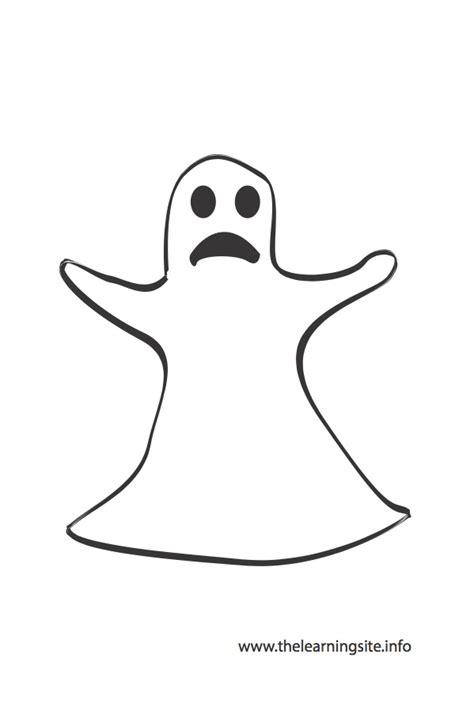 ghost outline coloring page free coloring pages of ghost outline