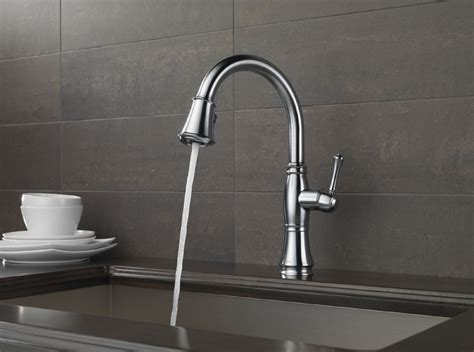 delta cassidy kitchen faucet delta 9197 ar dst cassidy single handle pull kitchen faucet arctic stainless
