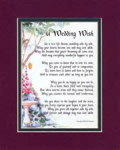 wedding wishes poem quot a wedding wish quot touching 8x10 poem matted in burgundy green and enhanced with