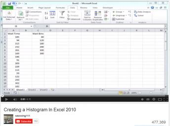 excel 2010 histogram tutorial creating a histogram in excel 2010 better evaluation