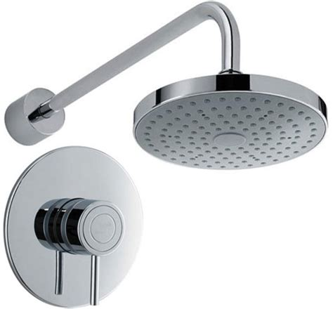 Bath Thermostatic Shower Mixer Taps concealed thermostatic shower valve with round shower head
