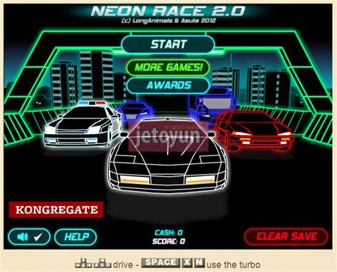 neon araba yarisi oyunu oyna araba oyunlari