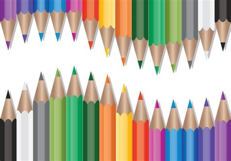 set  colored pencils vector   vector art stock graphics images