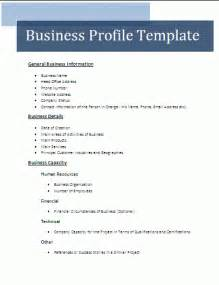 5 business profile sle doc bussines 2017