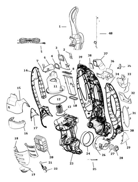 miele vacuum parts diagram eureka 8807 capture vacuum parts
