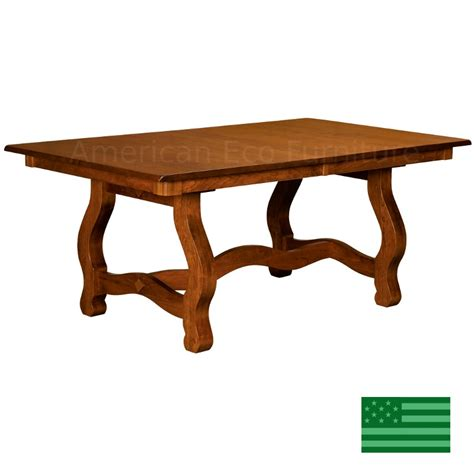 Dining Table Made In Usa Amish Solid Wood Heirloom Furniture Made In Usa Chancellor Trestle Dining Table American