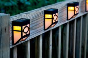 outdoor fence lighting solar outdoor lights house ideals