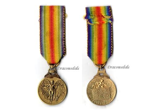 Czechoslovakia Ww1 Medal Victory Interallied 1914 Wwi D greece ww1 victory interallied medal wwi 1914 1918 decoration ww1 dracomedals medals