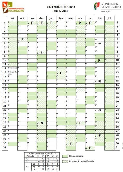 Calendario De 2017 E 2018 Professores Lusos Calend 225 Rios Escolares 2017 2018 Para