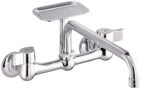 gerber 174 classics two handle wall mount kitchen faucet