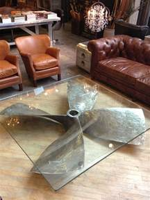 Unique Coffee Tables Furniture Propeller Glass Table Decor8 Restaurant
