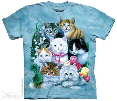 Tshirt Cat 5 the mountain kitten collage cats pets animals