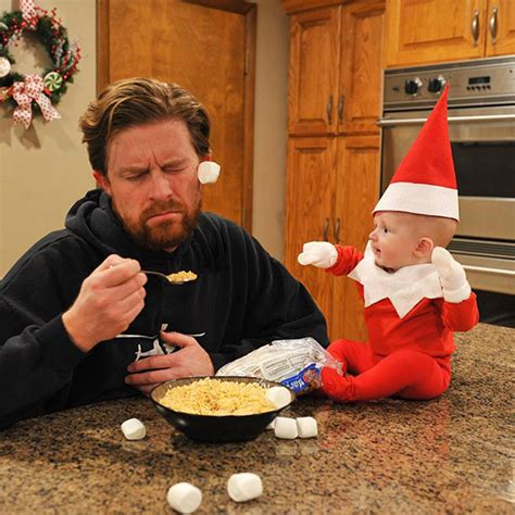 dad turns baby into elf on the shelf usa today this dad creates real elf on the shelf photos with his 4