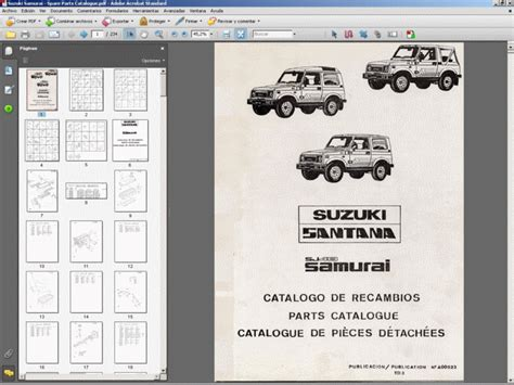 Suzuki Car Parts Catalogue Suzuki Samurai Spare Parts Catalogue