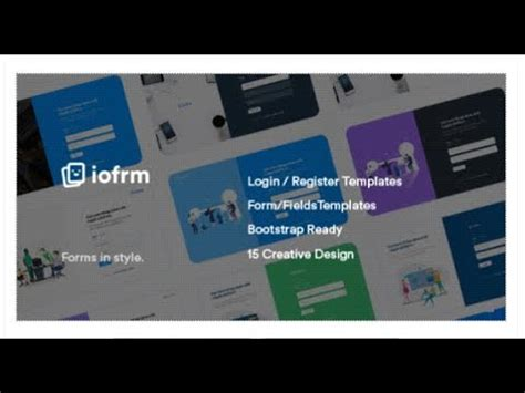 themeforest login template iofrm login and register form templates themeforest