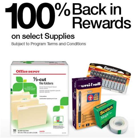 Office Depot Rewards Login Office Depot Get Free Supplies After 100 Back In Rewards