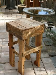 outdoor kitchen bar stools pallet bar stool love these for the kitchen or outdoor