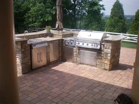 Backyard Grill Islands Built In Outdoor Grill Designs Maryland Custom Bbq Grill