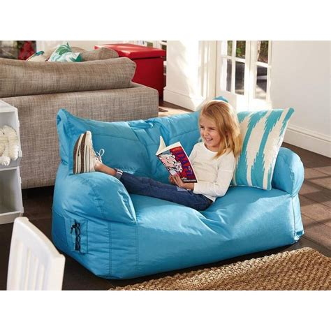 childs couch kids 2 seater brady bean bag sofa chair outdoor bean