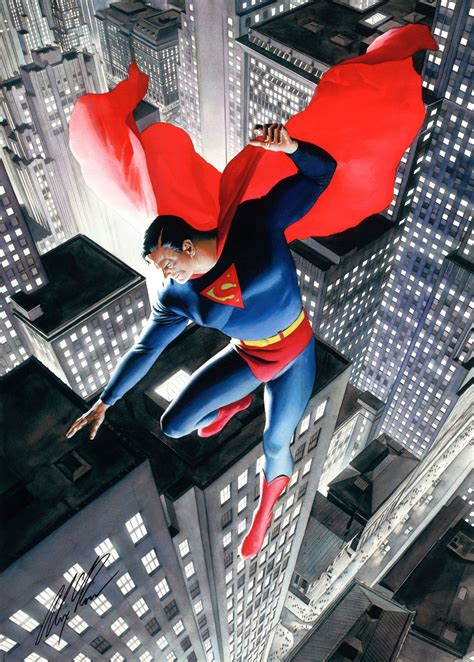 Kaos Superman Logo Alex Ross superman by alex ross i own this limited edition artwork on canvas inspiration