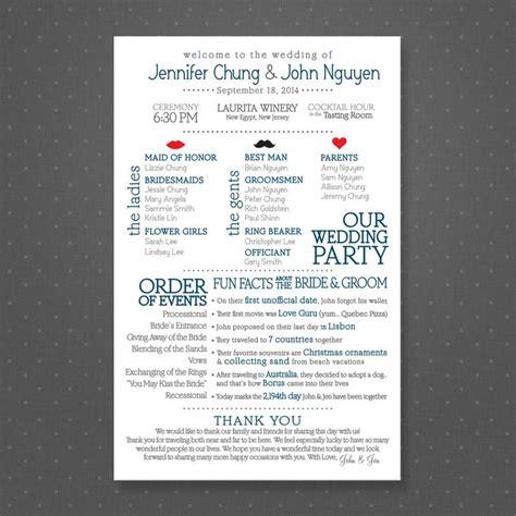 Wedding Facts by Facts Wedding Program Printable Wedding Programs