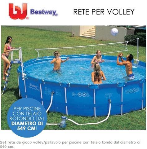 rete pallavolo da giardino rete pallavolo per piscine gioco rete volley bestway