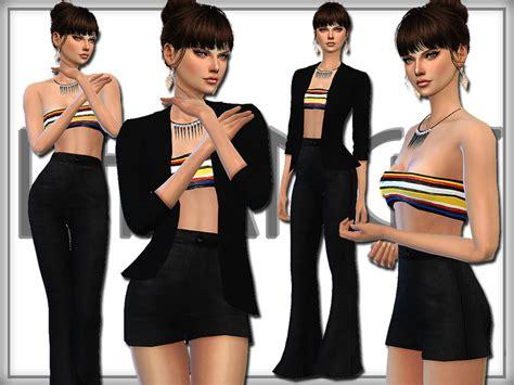 design clothes the sims 4 darknightt s set 11 designer set
