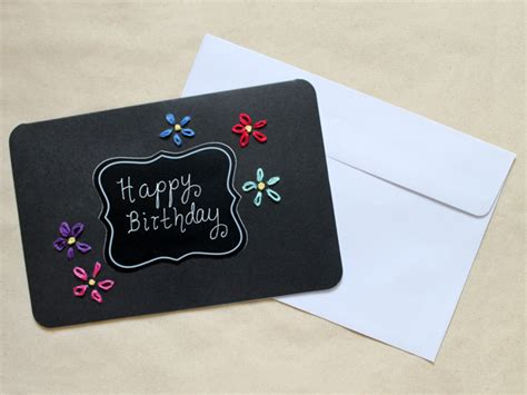 How To Make Paper Cards For Birthday - how to make a birthday card embroidery on paper loulou