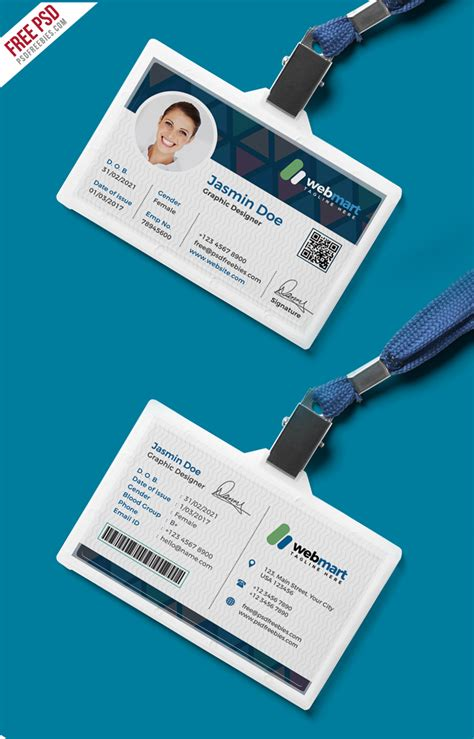 id card design template psd free download office id card design psd psdfreebies com