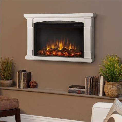slim brighton electric wall fireplace in white 770e w