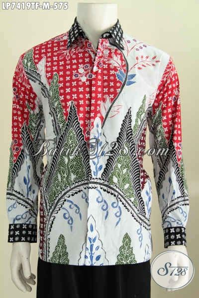 produk baju batik pria dewasa hem batik bagus desain produk baju batik pria terbaru hem lengan panjang premium