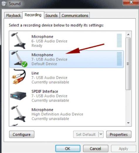 nie działa mikrofon w windows 7