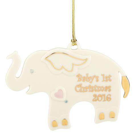 baby s first christmas ornament 2016 elephant lenox