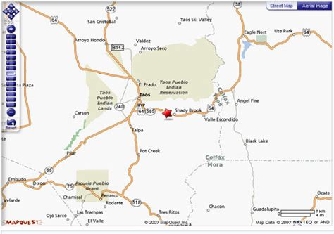 Taos Creek Cabins by New Mexico Mile Marker Map Swimnova